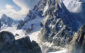 Picture the Lord of the rings, lord of the rings, Concept Art, Bastien Grivet, LOTR, Caradhras