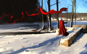 Picture Winter, Snow, Warrior, Knight, Concept Art, Characters, Dominik Mayer, Environments, Banner, by Dominik Mayer, 30 …