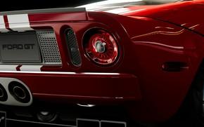 Picture Macro, Ford, Red, Auto, Black, Ford GT, Gran Turismo Sport