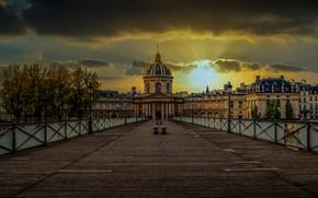 Picture Paris, Sunset, Institute of France, Pont des Arts