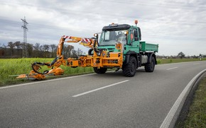 Picture road, Mercedes-Benz, truck, equipment, machinery, Unimog, U529