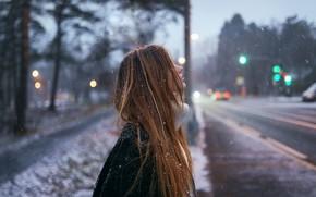 Picture snow, profile, curls, Aleks Five