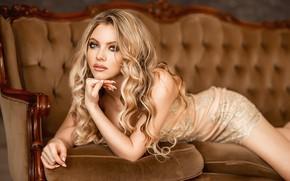 Picture hot, blonde, pose, A Diakov George