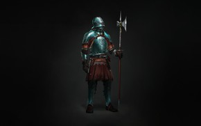 Picture Minimalism, Armor, Warrior, Art, Art, Warrior, Knight, Minimalism, Armor, Character, Max Yenin, Medieval knight, by …