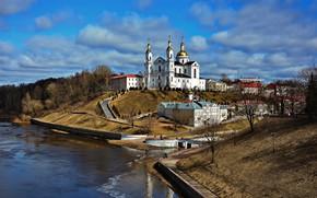 Picture the city, river, landscape nature, Vitebsk, Dvina