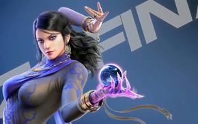 Picture girl, game, character, fighter, pretty, pose, Tekken, vidoe games, Zafina, charliehgl