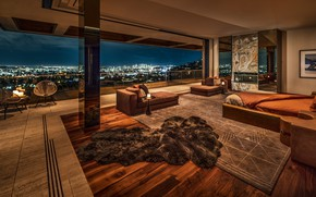 Picture space, Villa, interior, megapolis, bedroom, by Kravitz Project, villa Broun stone