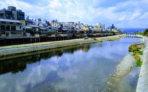 Picture Japan, Kyoto, Bridge, River