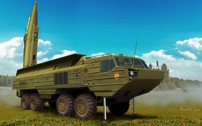 Picture Oka, PTRC, Soviet operational-tactical missile complex, SS-23 Spider, THE SOVIET ARMED FORCES, 9K714