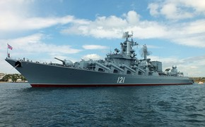 Picture Moscow, the black sea, cruiser, rocket