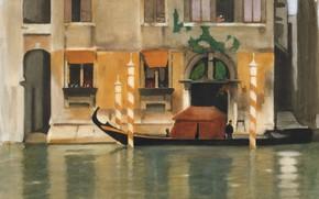 Picture figure, watercolor, View Of Venice, Willem Witsen, Виллем Витсен
