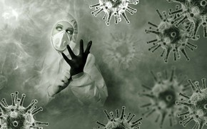 Picture MASK, GLOVE, BIOLOGY, VIRUS, BACTERIA, HIMCOLIN