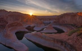 Picture landscape, sunset, river, rocks, © JAY HUANG