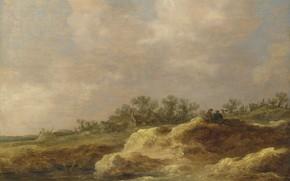 Picture landscape, picture, Jan van Goyen, Jan van Goyen, Cottage on postre