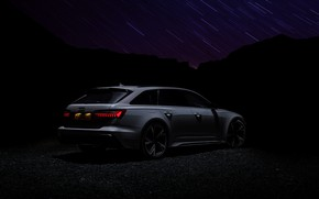 Picture darkness, Audi, side, universal, RS 6, 2020, 2019, V8 Twin-Turbo, RS6 Avant, UK-version