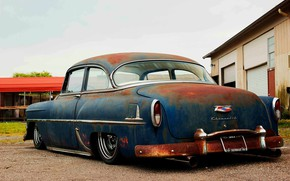 Picture Chevrolet, Hot Rod, Bel Air, Old, Custom, Low, Vehicle