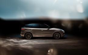 Picture Porsche, side view, Turbo, 2018, Cayenne, TechArt