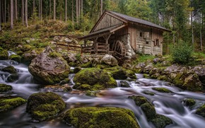 Picture stones, mill, house, water