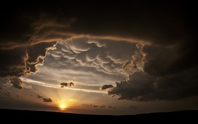 Picture twilight, sky, nature, Sun, sunset, clouds