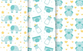 Picture background, Wallpaper, texture, Baby, patterns, collection, children's room