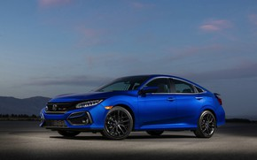 Picture blue, Honda, sedan, Civic, four-door, 2020, 2019, You Sedan