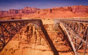 Picture United States, Arizona, Marble Canyon, two bridges