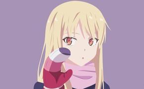 Picture girl, mitten, Kitty From Sakuraso