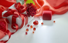 Picture gift, roses, bouquet, Valentine's Day. Valentine