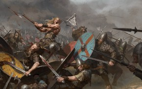 Wallpaper weapons, blood, battle, warrior, Battle, armor