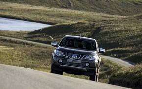 Picture road, asphalt, hills, Mitsubishi, pickup, L200, 2015