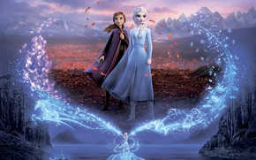 Picture cartoon, cartoon, Frozen, Anna, Anna, Elsa, Elsa, Cold Heart, Cold heart 2