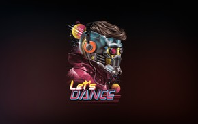 Picture Minimalism, Art, Dance, Neon, Lord, Guardians Of The Galaxy, 80's, Synth, Retrowave, Synthwave, Star Lord, ...