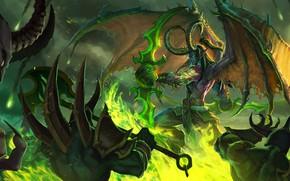 Picture The game, Battle, Illidan, The demon, WOW, Stormrage, Warcraft, Blizzard, Art, Night Elf, World of …