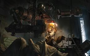 Picture robot, man, technician, Legends of Runeterra