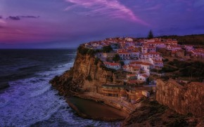 Picture sea, night, rock, home, Spain