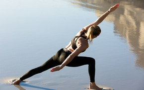 Picture pose, female, workout, yoga
