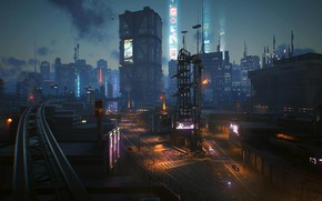 Picture rpg, video game, night city, CD Projekt RED, Cyberpunk 2077