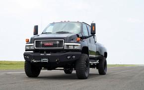 Picture black, front, pickup, 2007, TopKick, GMC, Ironhide, C4500