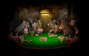 Picture card, light, rendering, table, room, the game, smoke, lamp, club, glasses, art, chairs, alcohol, black …