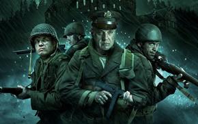 Picture cinema, gun, Overlord, soldier, weapon, war, man, movie, film, ww2, pearls, uniform, kabuto