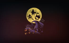 Picture Minimalism, The moon, Halloween, Art, Witches, by Vincenttrinidad, Vincenttrinidad, by Vincent Trinidad, Vincent Trinidad, Halloween ...