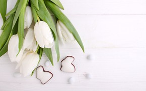 Picture holiday, Easter, gingerbread, white tulips