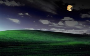 Picture night, serenity, photoshop, windows xp, famous Wallpaper