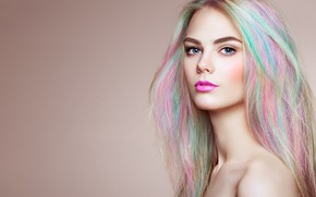 Picture face, hair, portrait, hairstyle, girl, color, Oleg Gekman