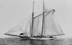Picture retro, America, schooner