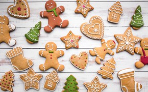 Picture decoration, New Year, cookies, Christmas, Christmas, New Year, cookies, decoration, Merry