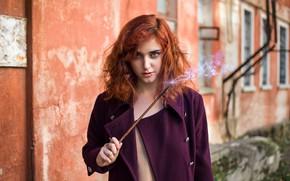 Picture girl, magic, magic wand, Ann Pashko, Anna Pashko