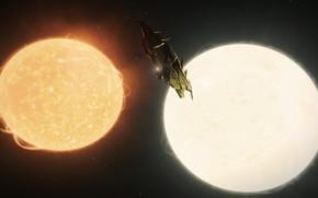Picture ship, The game, Elite: Dangerous, Двойная звёздная система, KRAIT PHANTOM