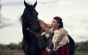 Picture Sword, Horse, Warrior, Cloak, Fighter, Mail, Mjollnir, Svetlana Fedorova, The captain of the female national …
