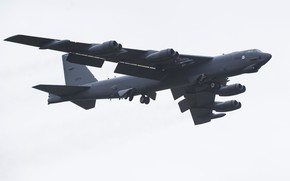 Picture Boeing, UNITED STATES AIR FORCE, Stratospheric fortress, STRATO fortress, American strategic bomber, B-52H